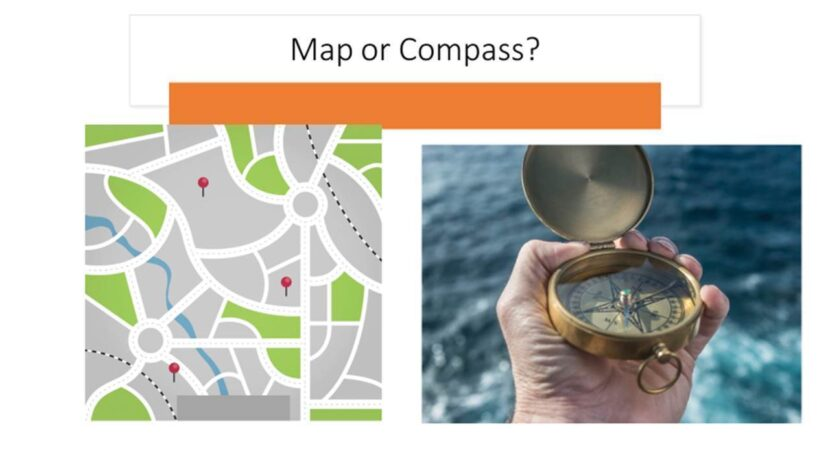 map or compass donor fundraising